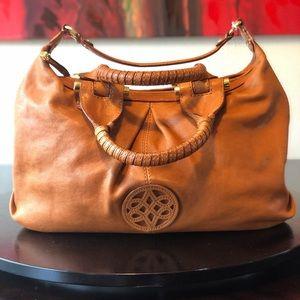 Antonio Melani Camel and gold 3 strap handbag